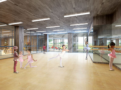 校园舞蹈教室装修图