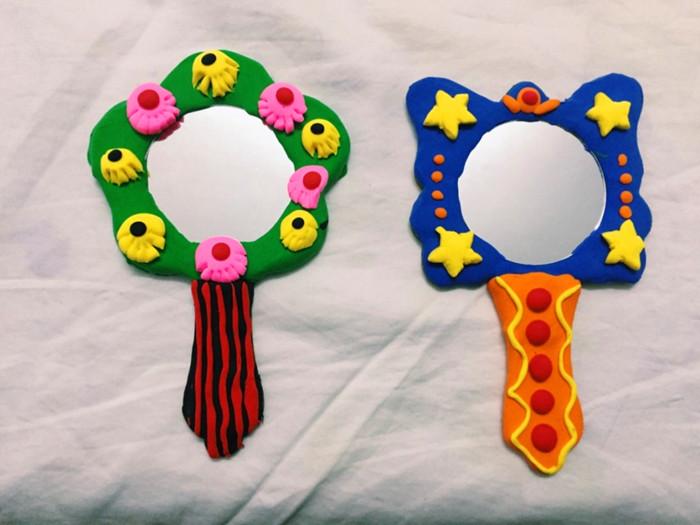 【3-5岁】手工作品《小魔镜》    我们利用超轻粘土,给神奇的魔镜