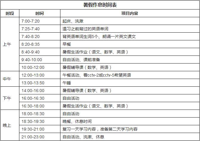 上海学霸和妈妈的暑期安排表,让无数国际学校